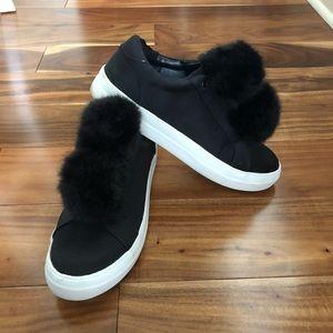 Black Pom Pom Sneakers